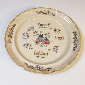 "International China Heartland Platter Plate 12"""